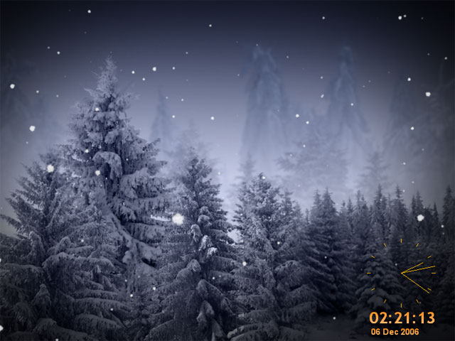 Animated SnowFlakes Screensaver Screenshot