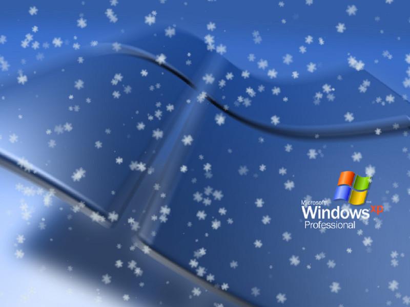 Snowing desktop background ·①.